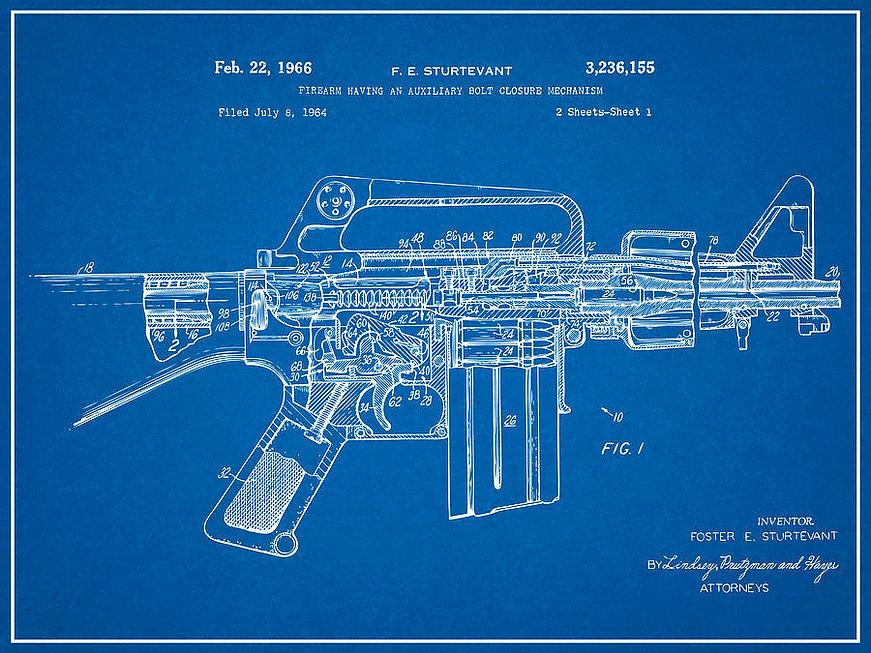 1966-ar15-assault-rifle-patent-print-m-1
