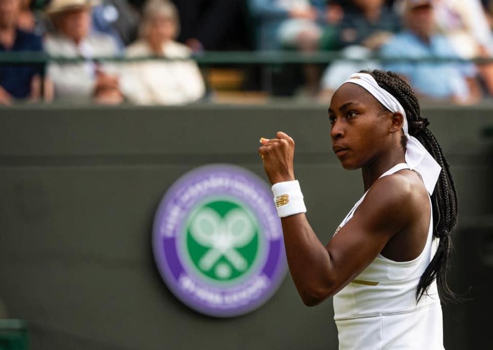 15 year old tennis star Coco Gauff at Wimbledon