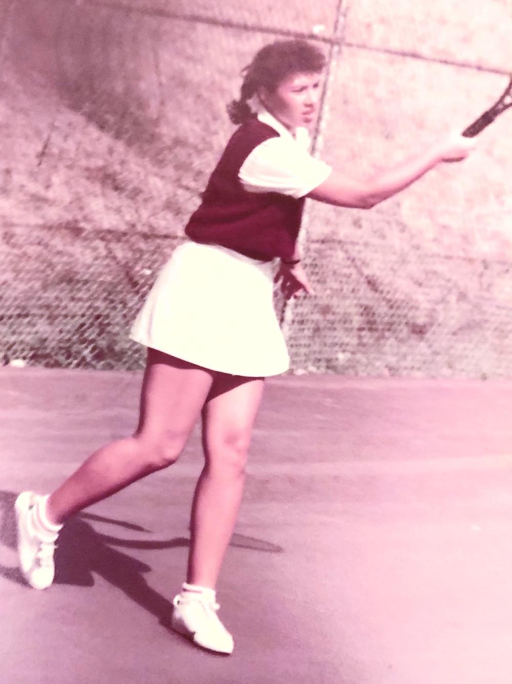 Tida Chambers playing tennis