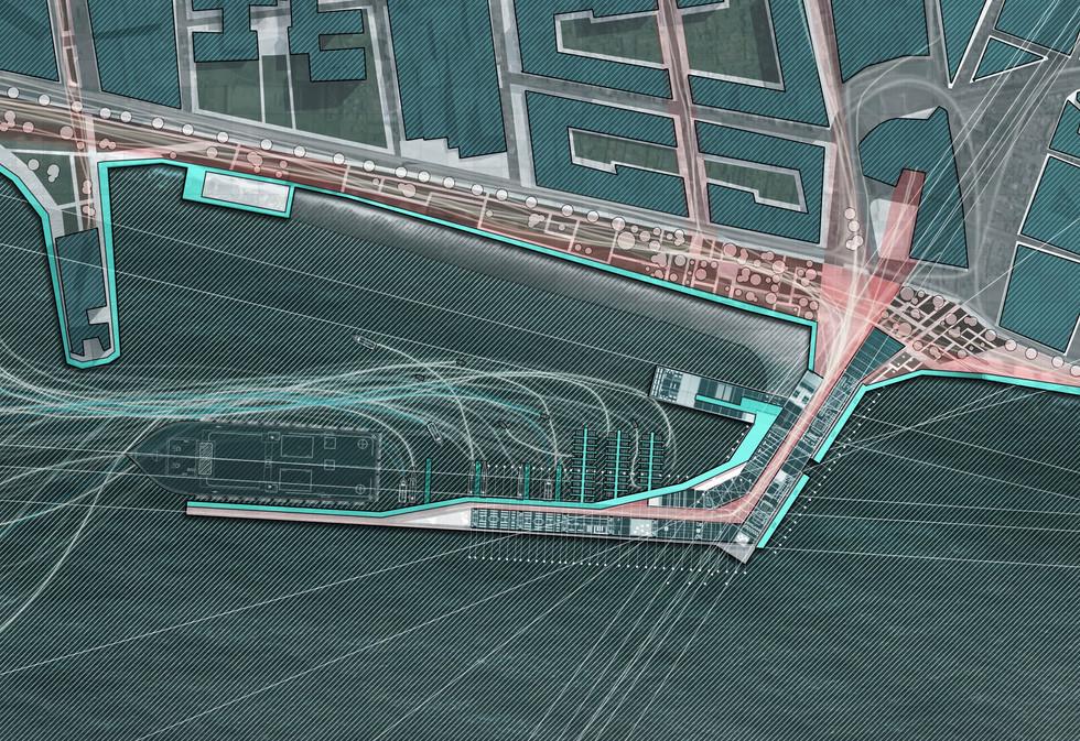 Sea port plan view