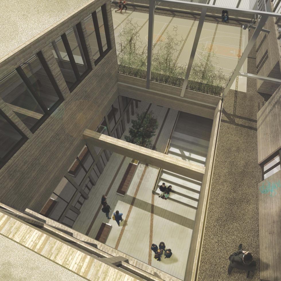 Bird Eye View of inner courtyard