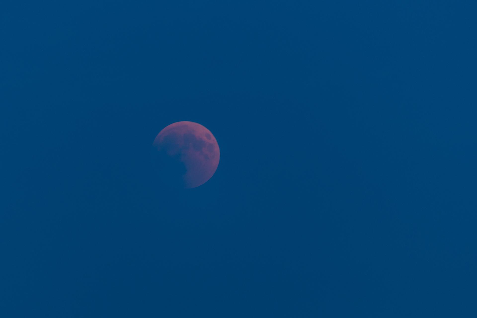 Timide lever de lune