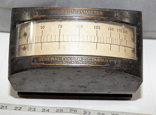 Thomson Ammeter Gauge By G E Electric Co