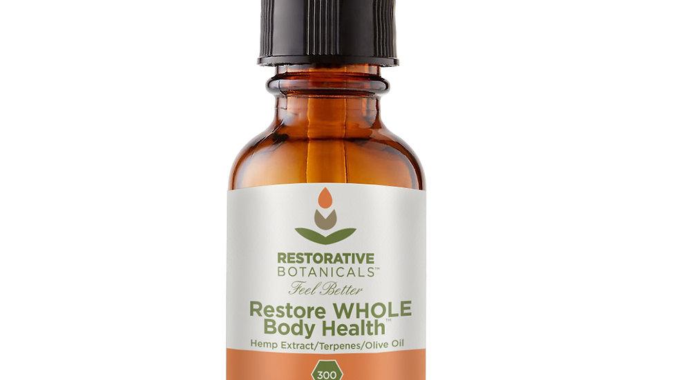 RESTORE WHOLE BODY HEALTH™ HEMP OIL SUPPLEMENT