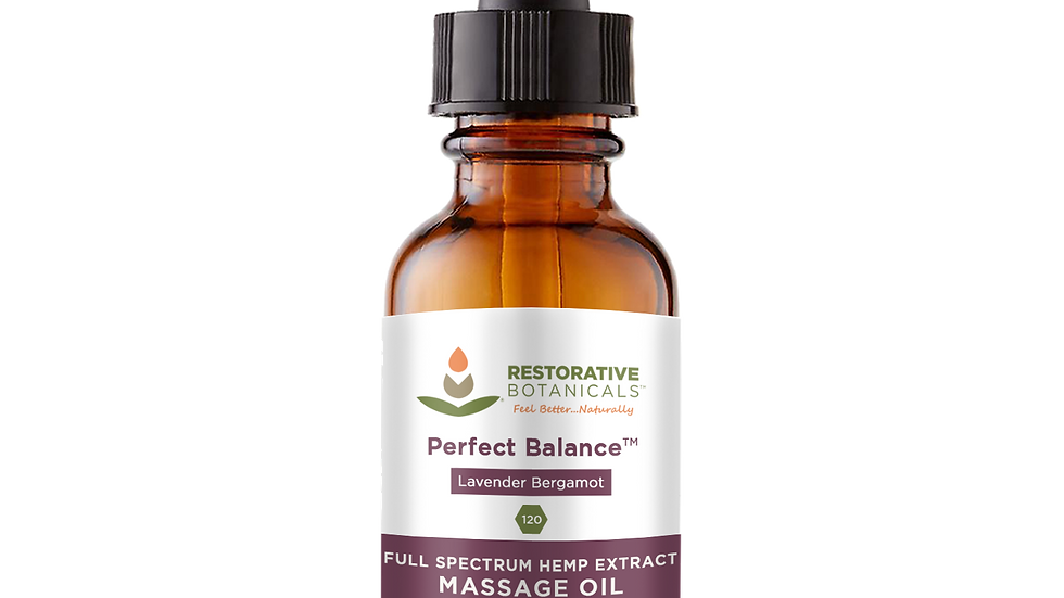 PERFECT BALANCE WHOLE PLANT HEMP EXTRACT MASSAGE OIL - FOR EXTERNAL USE ONLY