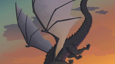 Dragon at Sunset
