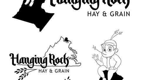 Hanging Rock Hay & Grain Logos