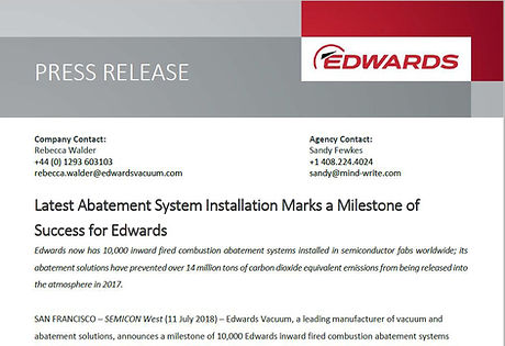 Press Release Abatement Milestone Edward