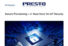 White Paper Secure Provisioning Presto.J