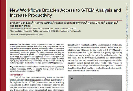 Contributed Article STEM Workflows Therm