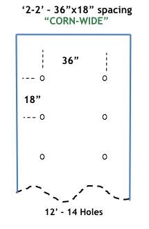 CORN-WIDE 12 ft long