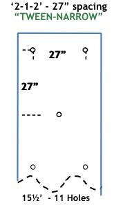 TWEEN-NARROW 15.5 ft long