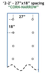 CORN-NARROW 14 ft long
