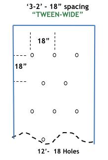 TWEEN-WIDE 12 ft long