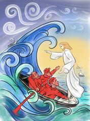 """30/01/21 """"Qui est-il donc, celui-ci, pour que même le vent et la mer lui obéissent ? »"""