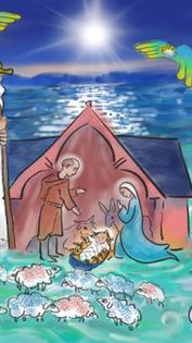 25/12/2020 Noël   « Aujourd'hui vous est né un Sauveur » ...« Les bergers découvrirent Marie et Joseph, avec le nouveau-né »