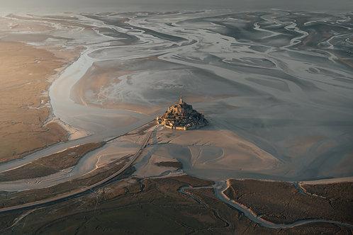Mont-Saint-Michel vue du ciel