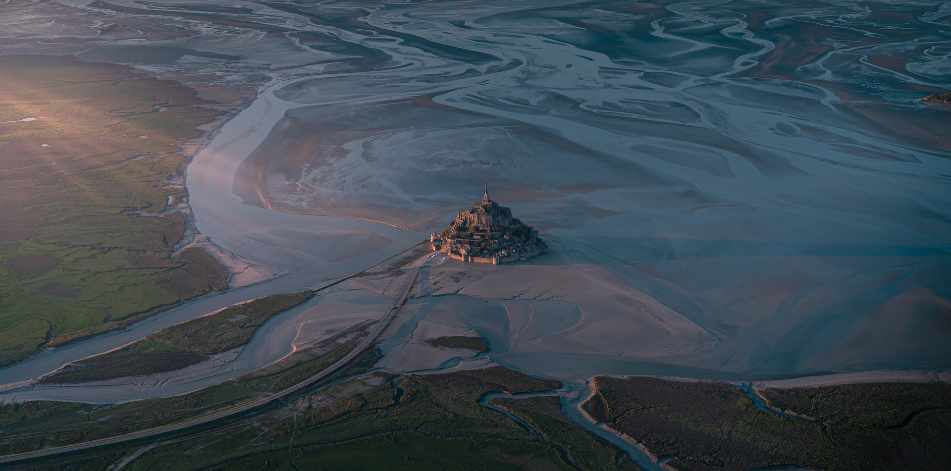 Photographie aérienne du Mont Saint-Michel