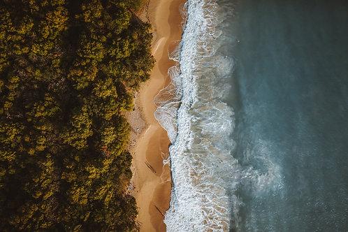 Sunset en Martinique - 50x30cm