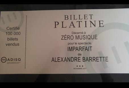 100 000 billets pour IMPARFAIT !