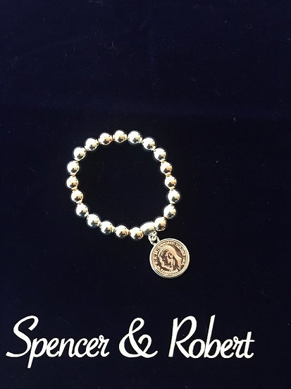 Bead Bracelet with Coin
