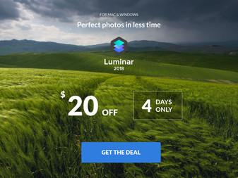 Skylum Luminar 2018 new low price - 4 days only