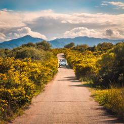 Barisardo Sardinia Italy Landscape Photography Spring Renault 4