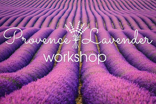 Provence Lavender Workshop 30 June - 5 July 2020