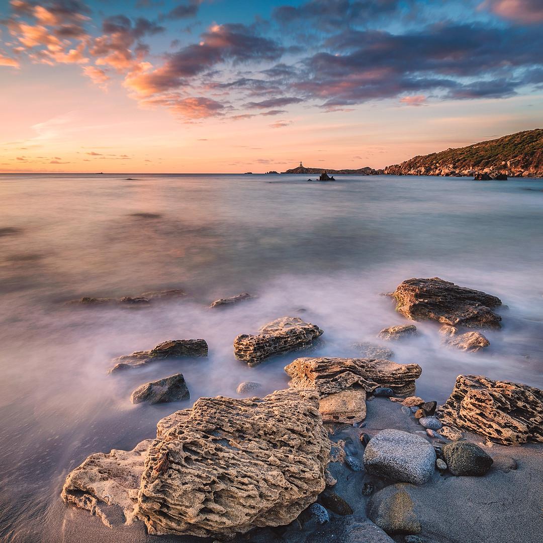 Villasimius Sardinia Sunset Cava Usai Long Exposure Raffaele Cabras