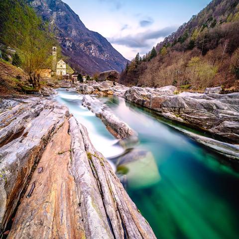 Switzerland Landscape Valle Verzasca Ticino
