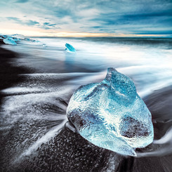 Iceland Ice Block Landscape Photography