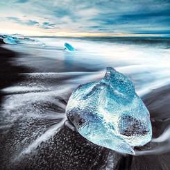 Iceland Ice Block Landscape Photography