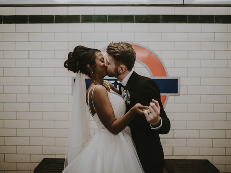 Taylor & Nathan's London underground wedding adventure