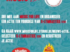 Steun G-lymnastiek vzw via Music For Life!