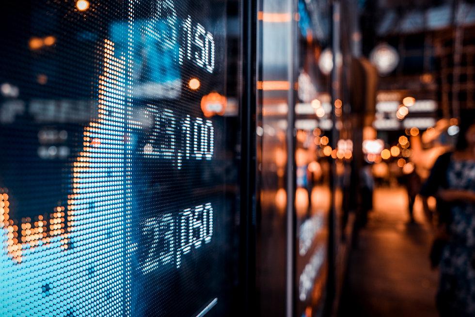 Financial stock exchange market display
