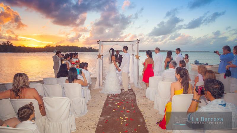 La Barcaza Punta Cana wedding ceremony
