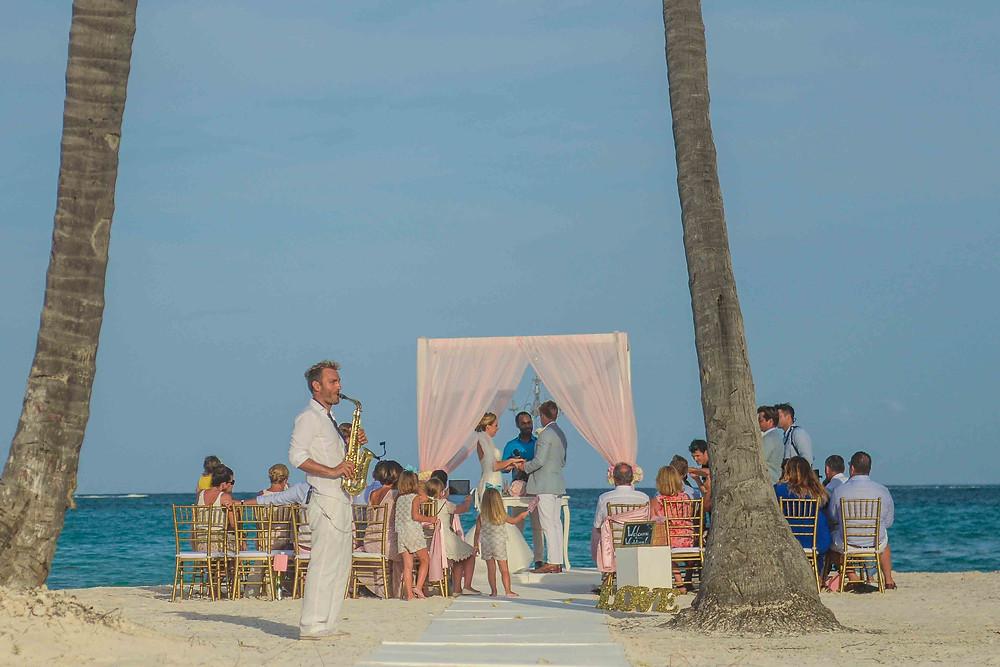 Palapa Juanillo wedding music, saxophone entertainment