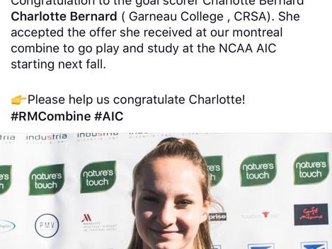 Charlotte Bernard-NCAA BOUND!