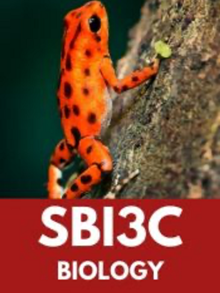 Grade 11 Biology-SBI3C