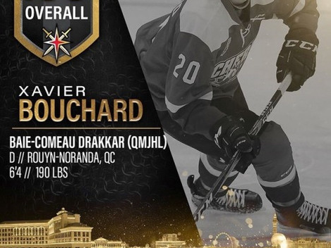Xavier Bouchard Drafted by Golden Knights!
