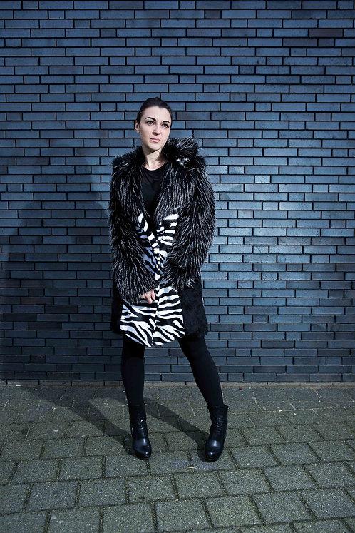 Zebra DURGA Faux Fur Art Jacket