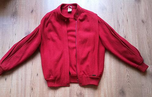 GEIGER Vintage Boiled Wool Felt Red Jacket