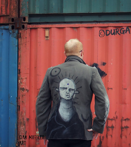 Rare Indie Mens Alternative Graffiti Art Jacket