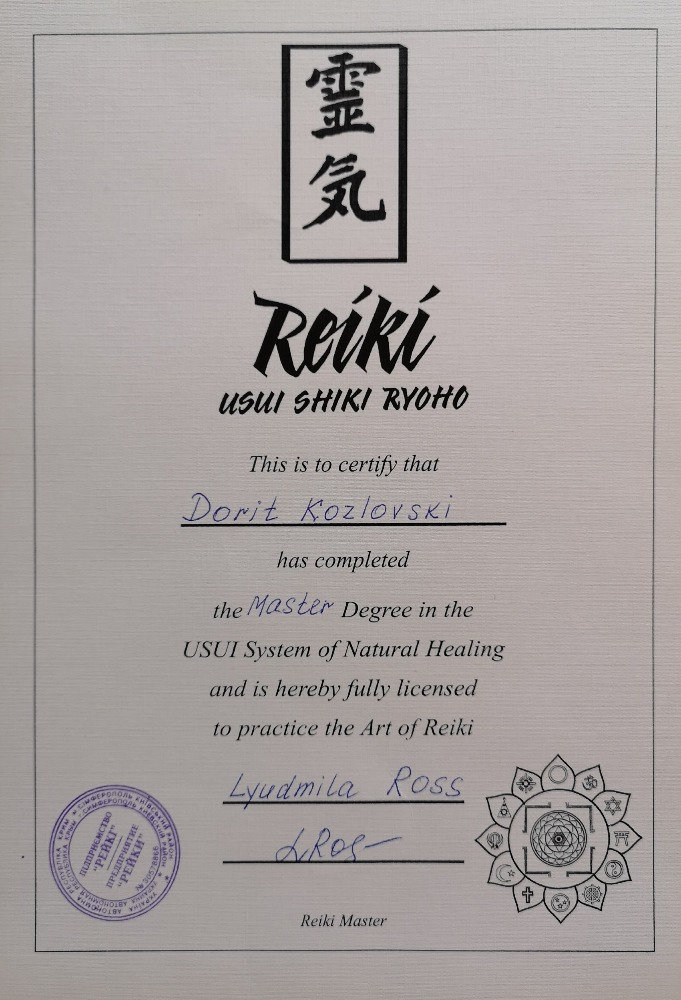 Passing Reiki Initiations for all levels