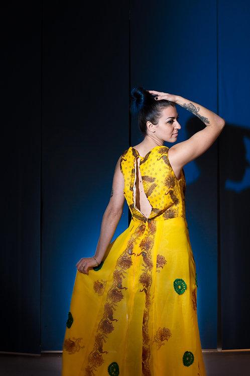 Grace DURGA Long Light Yellow Dress