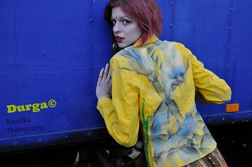 Rare Handpainted Graffiti Art Blazer Ladies Jacket