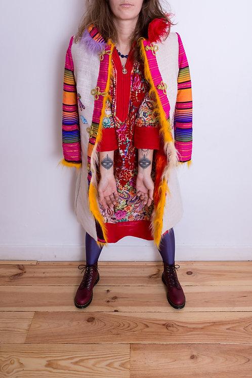 Psychedelia DURGA Fair Trade Red Handmade Robe