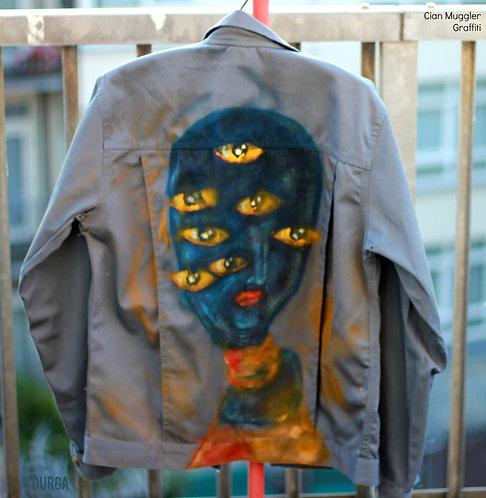 Rare Alien EYES Alternative Men`s  Artist Jacket