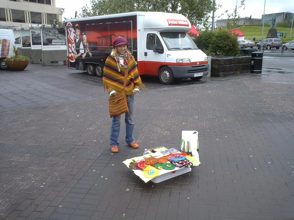 My first stand in Iceland, Reykjavik.JPG