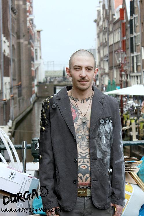 Upcycled Alternative Mens Urban Graffiti Jacket
